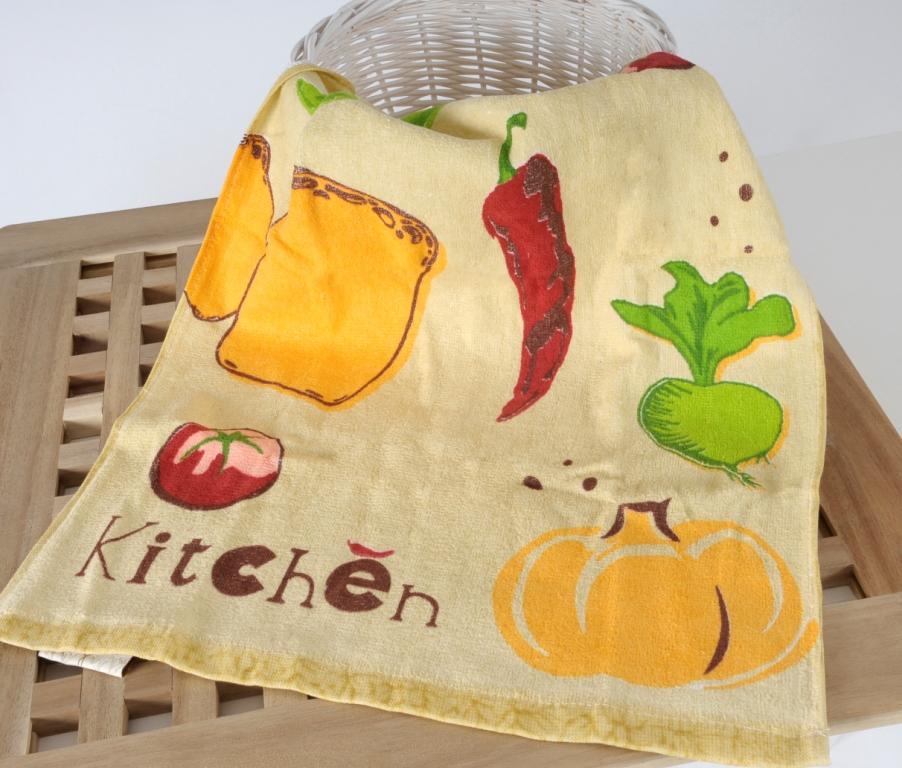 FRESH Krem (кремовый) Кухонное полотенце-набор 2шт