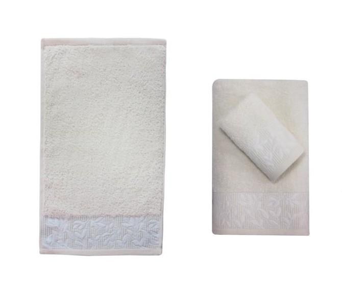 Полотенце банное PIKELI YAPRAK Cream (кремовый)