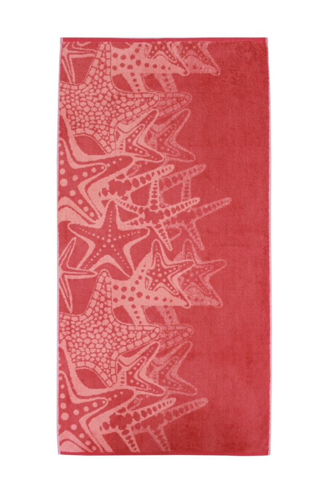 Полотенце банное DENİZ YILDIZI L.Somon/D.Somon (розовый)