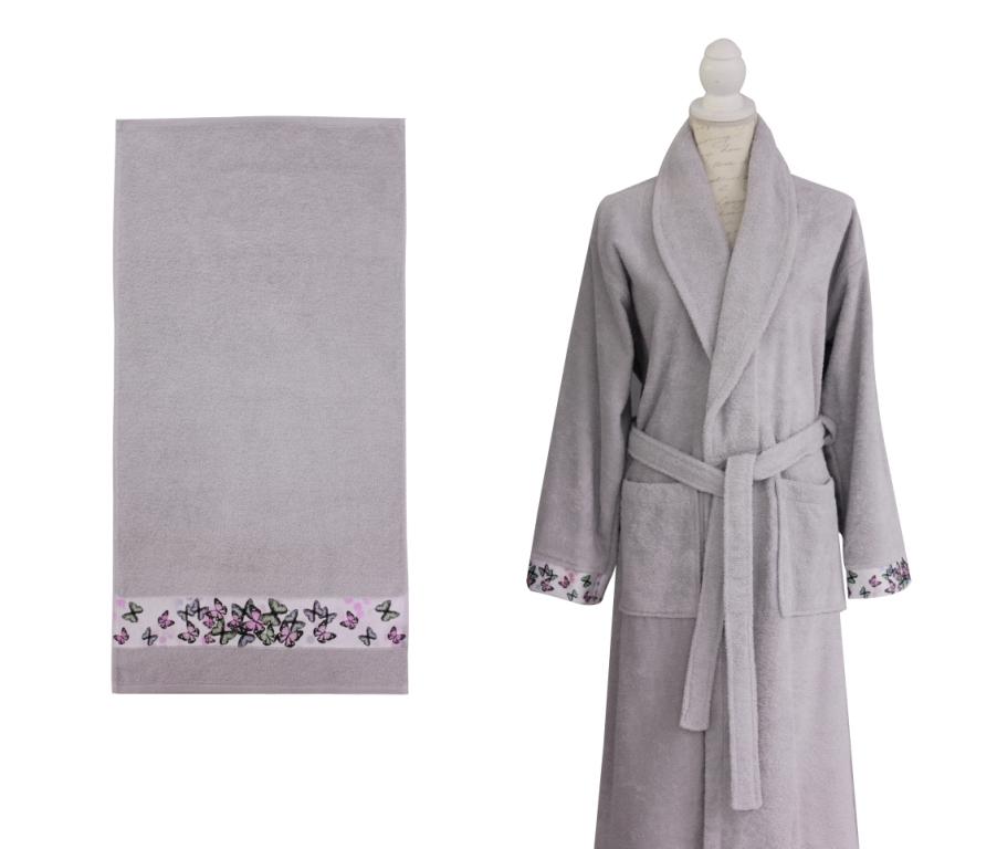 Полотенце банное DİNAMİCA L.Grey (светло-серый)