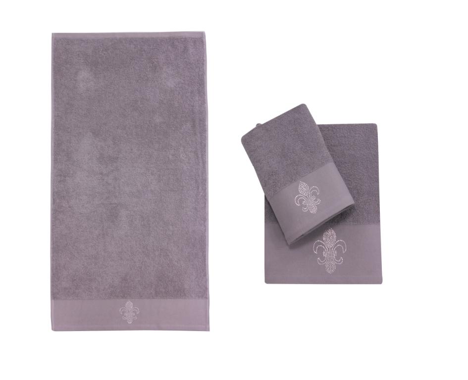 Полотенце банное TAŞ BASKI D.Grey (темно-серый)