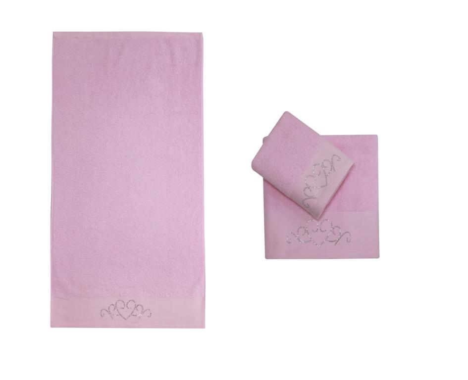 Полотенце банное TAŞ BASKI Pink (розовый)