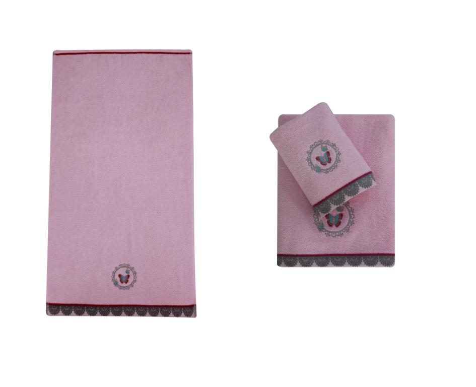 Полотенце банное NOBİLE L.Pink (светло-розовый)