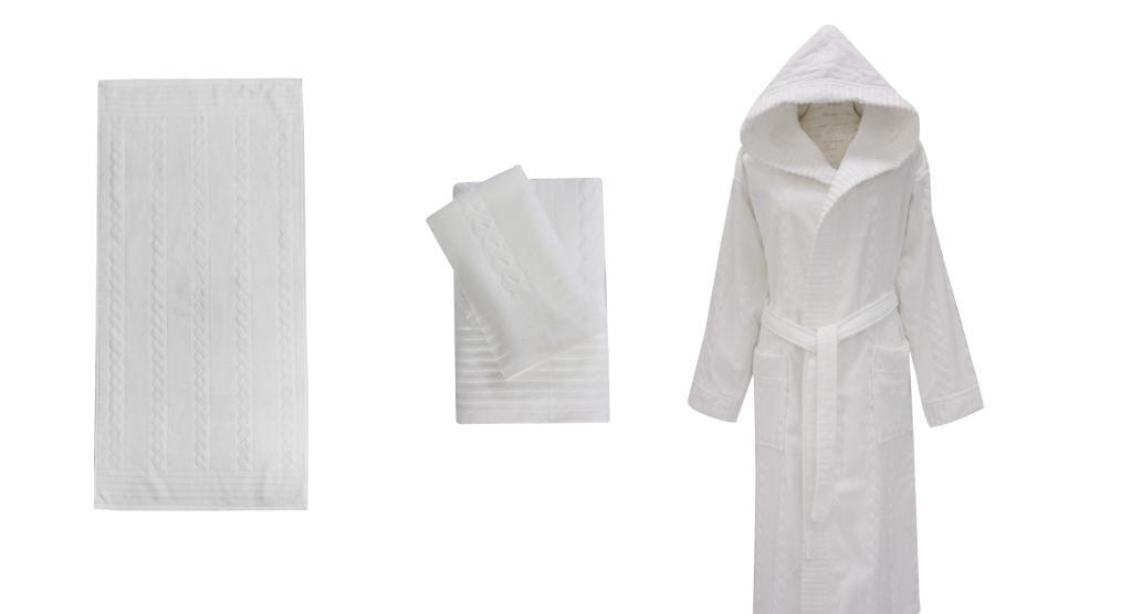 Полотенце банное SAÇ ÖRGÜSÜ White (белый)
