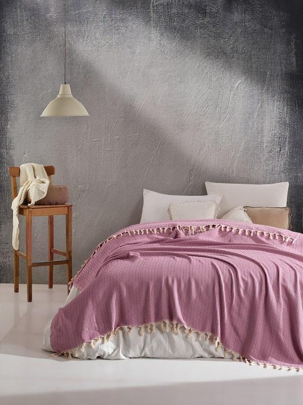 Плед арт.4 розовый