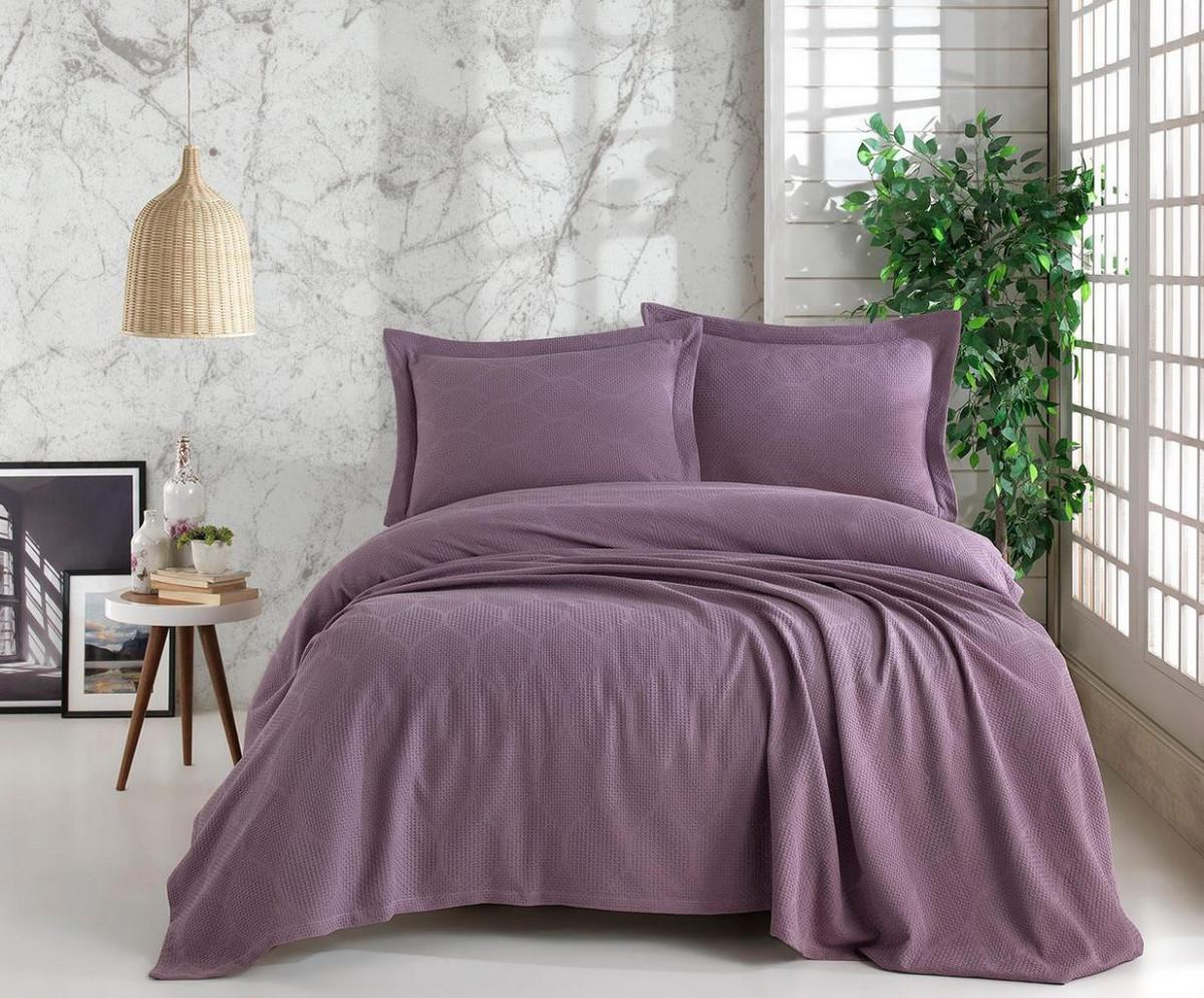 Покрывало c наволочками Фиолетовые