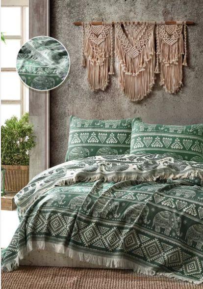 Покрывало ELEPHANT BED SPREAD цвет зеленый (GREEN)