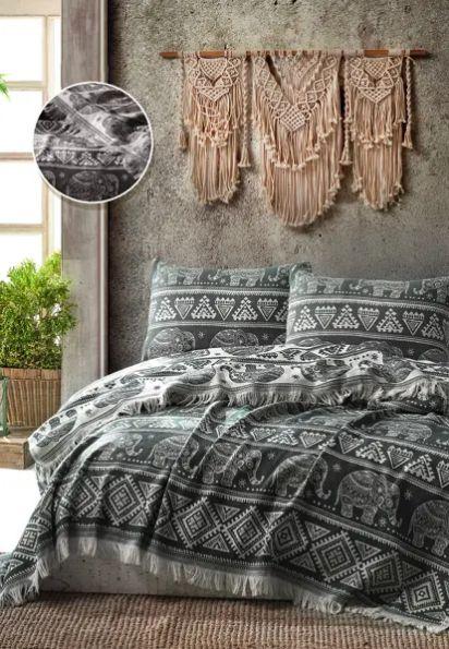 Покрывало ELEPHANT BED SPREAD цвет черный (BLACK)