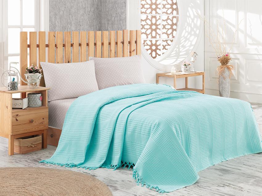 Покрывало NICE BED SPREAD цвет бирюзовый (TURQUOISE)