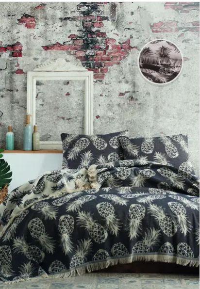 Покрывало ANANAS BED SPREAD цвет черный (BLACK)