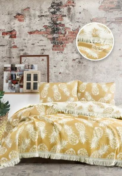 Покрывало ANANAS BED SPREAD цвет желтый (YELLOW)