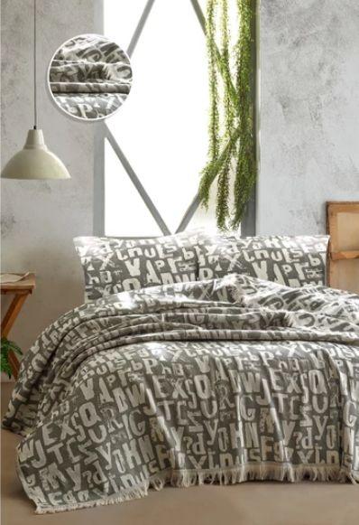 Покрывало TINEGER BED SPREAD цвет серый (GREY)