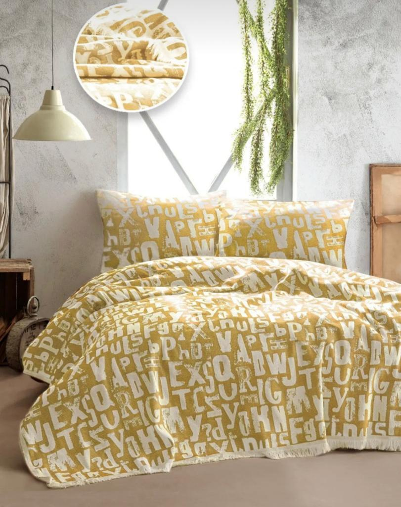 Покрывало TINEGER BED SPREAD цвет желтый (Yellow)