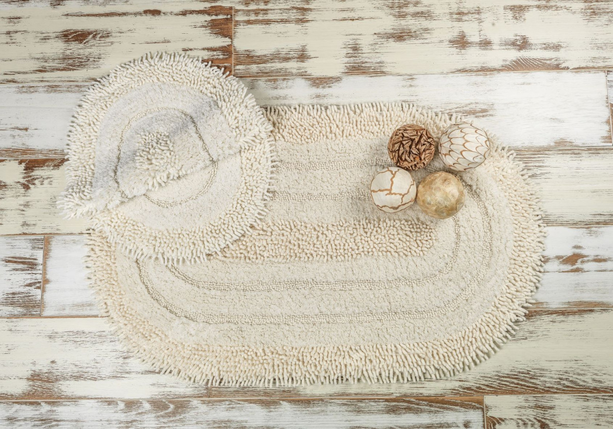 SHINE CREAM (кремовый) Набор ковриков для ванной комнаты