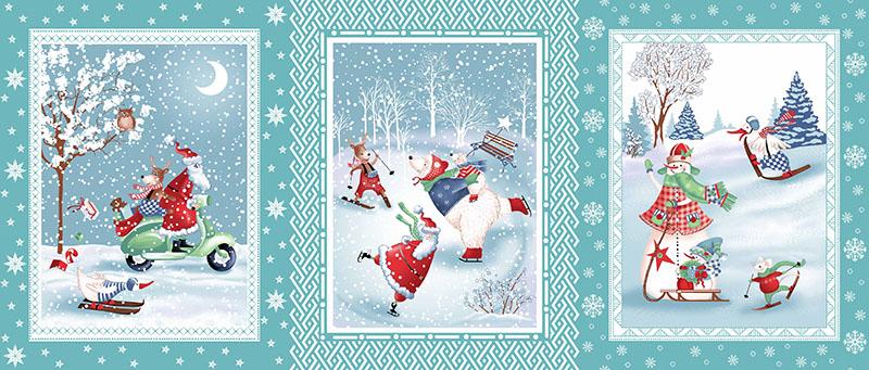 Набор Полотенец ваф. Санта Клаус вид-3