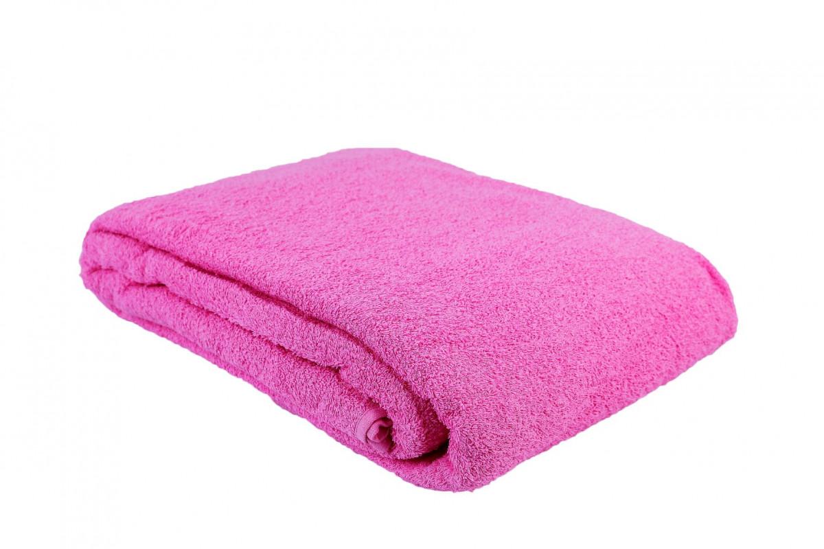 Простыня-покрывало махровая светло-розовая