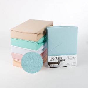 Простынь на резинке трикотажная  (PT голубая)
