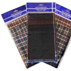 45422ф(3) Набор мужских носовых платков (3шт)
