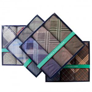 Пд29 Подарочный набор мужских носовых платков (3шт)