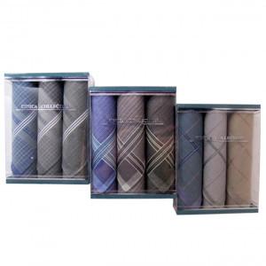 Пд34 Подарочный набор мужских носовых платков (3шт)