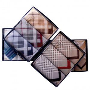 Пд53 Подарочный набор мужских носовых платков (3шт)