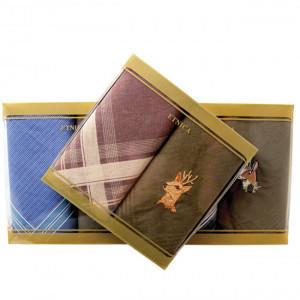 Пв42 Подарочный набор мужских носовых платков (2шт)