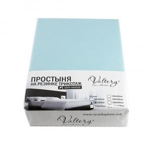 Простынь на резинке трикотажная  (PT бирюзовый)