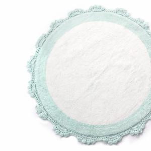 DOREEN Mint /Beyaz (ментоловый/белый) Коврик для ванной