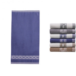 Полотенце банное INVENZİONE White/D.BLUE (темно-голубой-белый)