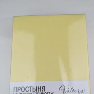 Простынь на резинке трикотажная  (PT желтая)