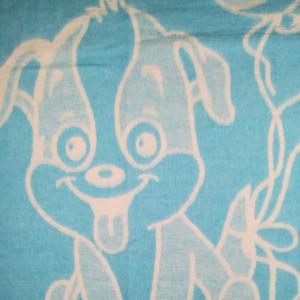 Одеяло Хлопок100% Cобачка голубая