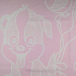 Одеяло Хлопок100%  Cобачка розовая