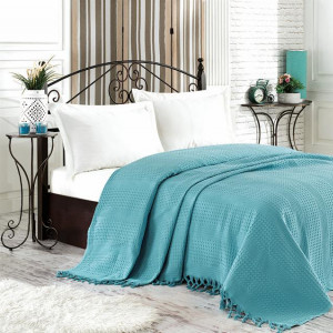 Покрывало NICE BED SPREAD цвет голубой (BLUE)