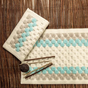 BOUBLE BLUE (голубой) Набор ковриков для ванной комнаты